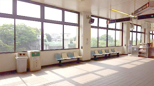 飯坂温泉駅構内写真