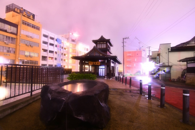 飯坂温泉の駐車場について