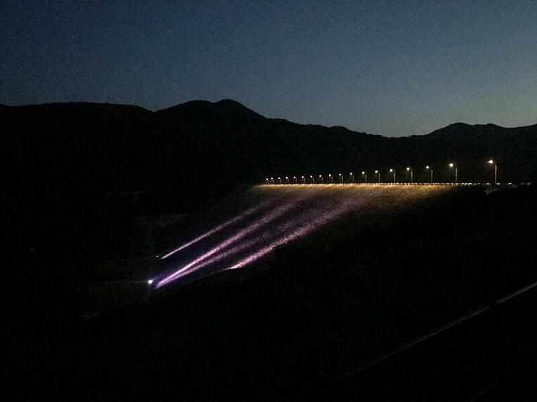 摺上川ダムのライトアップ