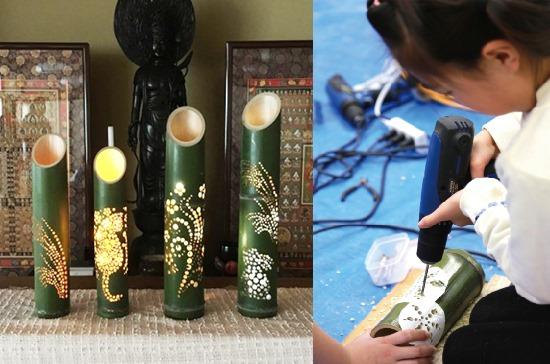 竹灯籠づくり体験