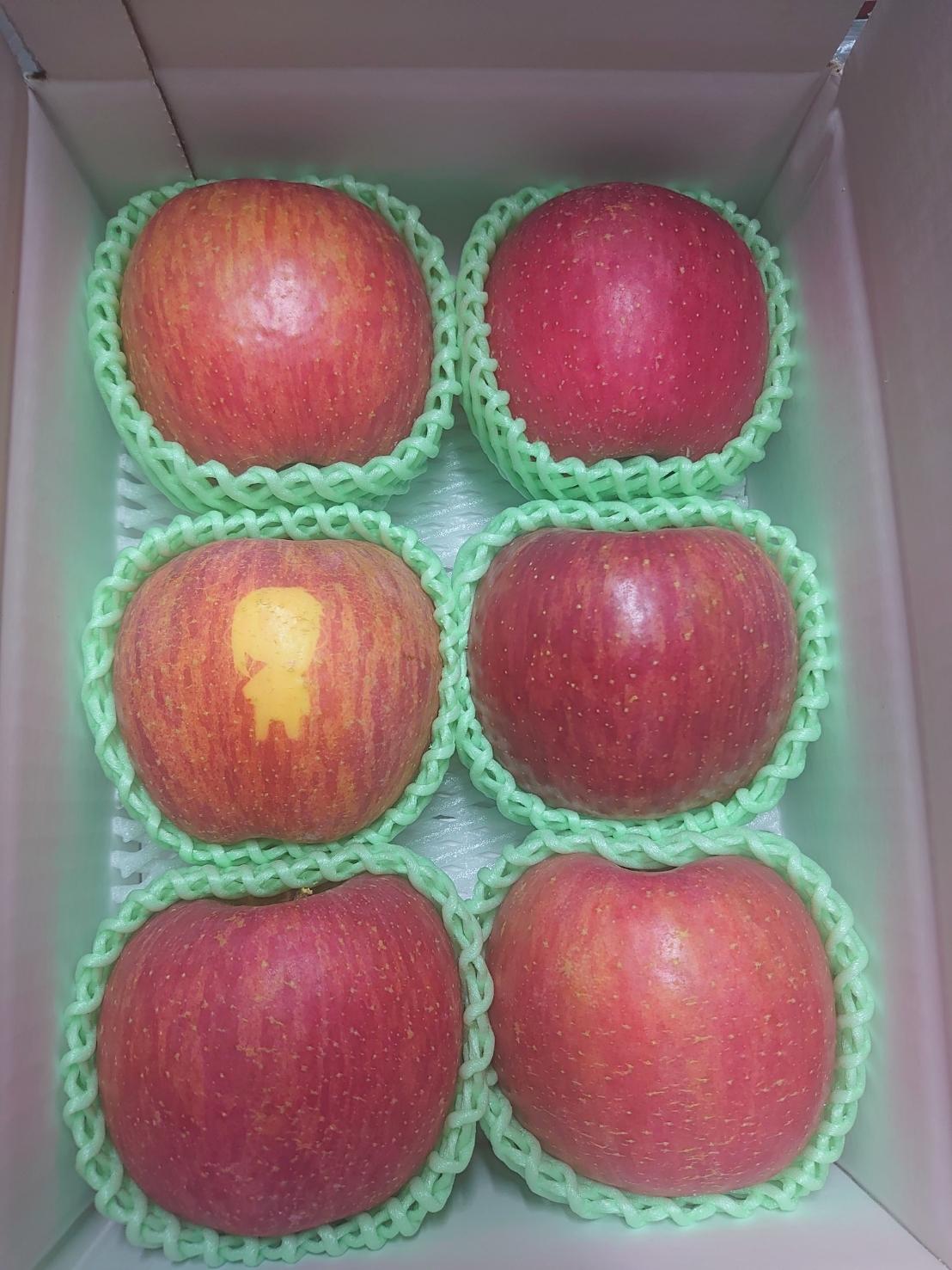 土産屋にて真尋ちゃんリンゴを発売